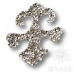 702810-001CAL Swarovski elements Декоративная накладка Valentina, цвет - серебро