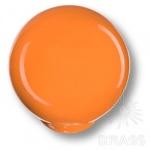 626NA Ручка кнопка детская коллекция , выполнена в форме шара, цвет оранжевый глянцевый