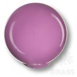 626MO Ручка кнопка детская коллекция, выполнена в форме шара, цвет фиолетовый глянцевый