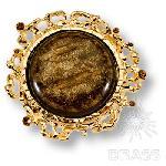 09.32.MO19 Ручка кнопка Kora эксклюзивная коллекция, глянцевое золото 32 мм