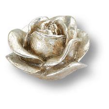 Ручка серебряная роза