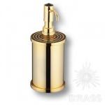 3507-78-320 Дозатор для мыла, латунь с чёрными кристаллами Swarovski, цвет - глянцевое золото