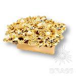01.32.MO19 Ручка кнопка Bouquet эксклюзивная коллекция, глянцевое золото 24 к, 32 мм