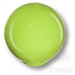 626PI Ручка кнопка детская коллекция, выполнена в форме шара, цвет фисташковый глянцевый