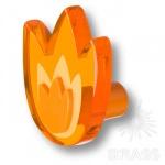 665NAX Ручка-кнопка выполнена в форме тюльпана, цвет оранжевый