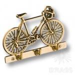 2.249 Вешалка Велосипед на 3 крючка, латунь
