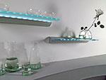 Светодиодная стеклянная полка-светильник