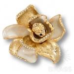 11.55 MO19 Ручка кнопка Magnolia эксклюзивная коллекция, глянцевое золото 24K