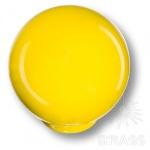 626AM2 Ручка кнопка детская коллекция, выполнена в форме шара, цвет желтый глянцевый