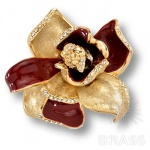 11.55 MO10 Ручка кнопка Magnolia эксклюзивная коллекция, глянцевое золото 24K